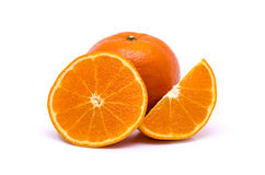 Orange fruit  on white background Stock Image