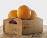 Orange fruit wood Stock Photo