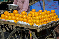Orange fruits in asia street market, India Stock Images