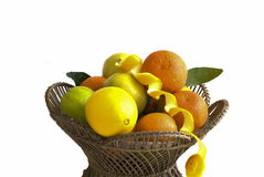 Orange fruits in basket Royalty Free Stock Image