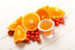 Orange - fruits and bath salt Stock Image
