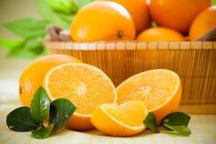 Orange fruits. Closeup of sliced orange fruits royalty free stock photos