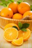 Orange fruits. Closeup of sliced fresh orange fruits stock image
