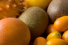 Orange fruits compostion Stock Photo