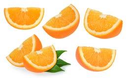 Orange fruits isolated on white. Background Stock Images