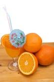 Orange fruits and juice stock photo