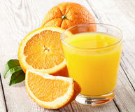 Orange fruits with juicy Stock Photography