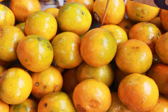 Orange fruits in the market Royalty Free Stock Images