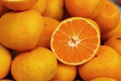 Orange fruits in the market Royalty Free Stock Image