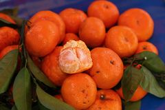 Orange fruits in the market Stock Photography