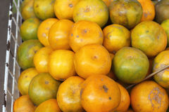 Orange fruits in the market Royalty Free Stock Photography