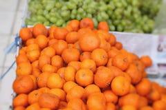 Orange fruits in the market Stock Image