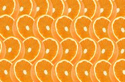 Orange fruits slice abstract seamless pattern Royalty Free Stock Images