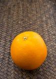 Orange Fruits On Wicker III Royalty Free Stock Photography
