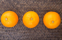 Orange Fruits On Wicker V Royalty Free Stock Images