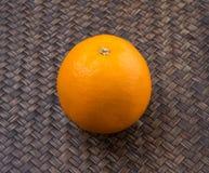 Orange Fruits On Wicker VII Stock Photo