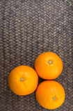 Orange Fruits On Wicker X Royalty Free Stock Image