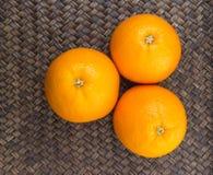 Orange Fruits On Wicker XI Royalty Free Stock Photo