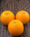 Orange Fruits On Wicker XII Stock Photography