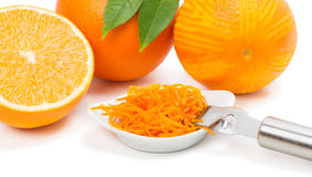 Orange fruits and zest. Stock Photography