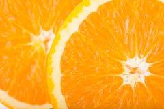 Orange frukt, övre bildtextur för slut Arkivbild