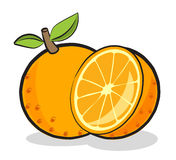 Orange frukt vektor illustrationer