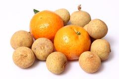 Orange frukt för Longan för fruktï¼ Œ Royaltyfria Bilder