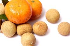 Orange frukt för Longan för fruktï¼ Œ Royaltyfri Fotografi