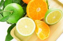 Orange frukt för skiva Arkivfoton