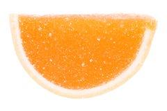 Orange frukt Jelly Isolated Arkivbilder