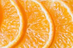 Orange frukt Nya skivor för Mandarine Arkivfoto