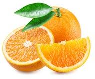 Orange frukt och skivor Royaltyfri Bild