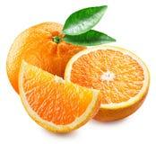 Orange frukt och skivor Arkivbilder
