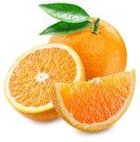 Orange frukt och skivor Royaltyfri Foto