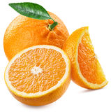 Orange frukt och skivor Royaltyfria Bilder