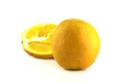 Orange frukt på vit bakgrund Arkivfoton