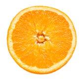 Orange frukt Rund skiva som isoleras på den vita tabellen ovanför sikt Royaltyfria Foton