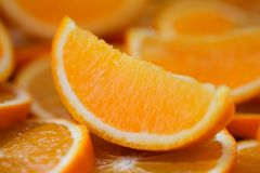 Orange frukt orange skivor Royaltyfria Foton