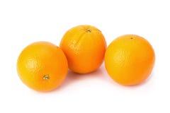 Orange frukt som isoleras på white Fotografering för Bildbyråer