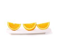 Orange frukt som isoleras på white Royaltyfria Foton
