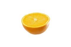 Orange frukt som klipps i halva Royaltyfria Foton