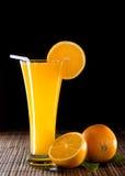 Orange fruktsaft Arkivbild