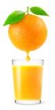 Orange fruktsaft royaltyfri fotografi