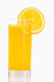 Orange fruktsaft för exponeringsglasod Arkivfoto