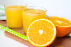 Orange fruktsaft, fruktsaft, apelsin Royaltyfri Bild