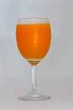 Orange fruktsaft i exponeringsglas Royaltyfri Fotografi
