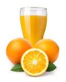 Orange fruktsaft och apelsiner Royaltyfri Foto