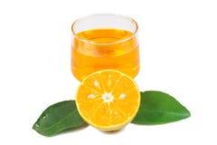 Orange fruktsaft och skivor Fotografering för Bildbyråer