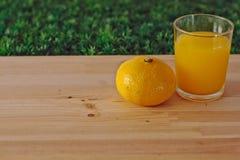Orange fruktsaft och tangerin Arkivfoton