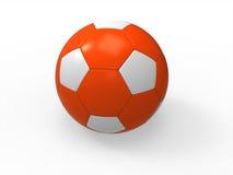 Orange Fußballkugel auf weißem Hintergrund vektor abbildung